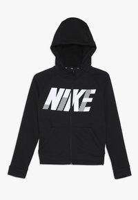 Nike Performance - DRY HOODIE - Huvtröja med dragkedja - black/white - 0