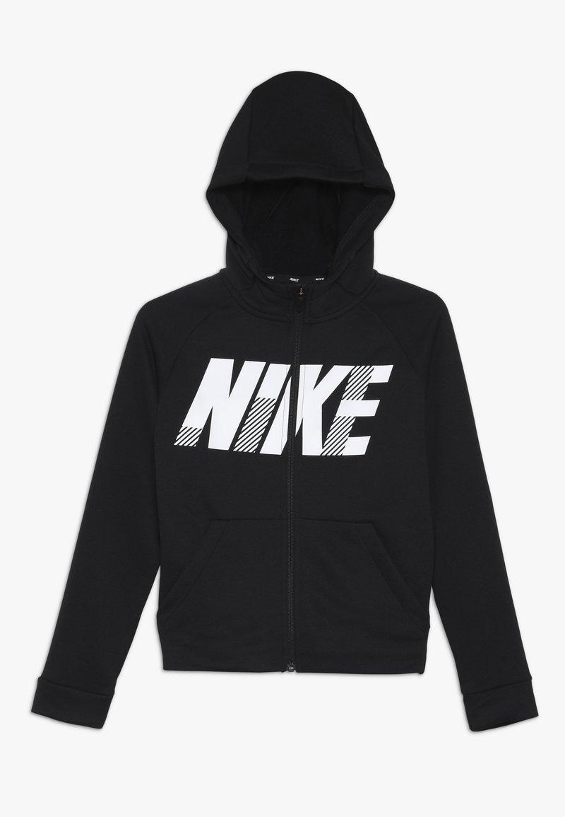 Nike Performance - DRY HOODIE - Huvtröja med dragkedja - black/white