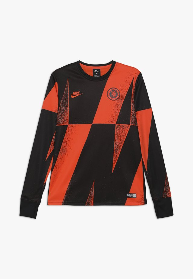 CHELSEA LONDON DRY CREW  - Klubbkläder - rush orange/black