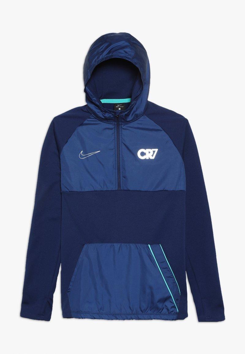 Nike Performance - CR7 DRY DRIL HOODIE - Bluza z kapturem - blue void/hyper jade/metallic silver