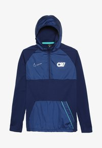 Nike Performance - CR7 DRY DRIL HOODIE - Bluza z kapturem - blue void/hyper jade/metallic silver - 3
