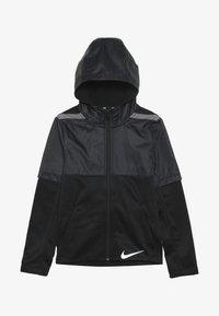 Nike Performance - THERMA WINTERIZED - Felpa aperta - black/gunsmoke - 3