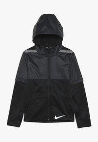 Nike Performance - THERMA WINTERIZED - Felpa aperta - black/gunsmoke - 0
