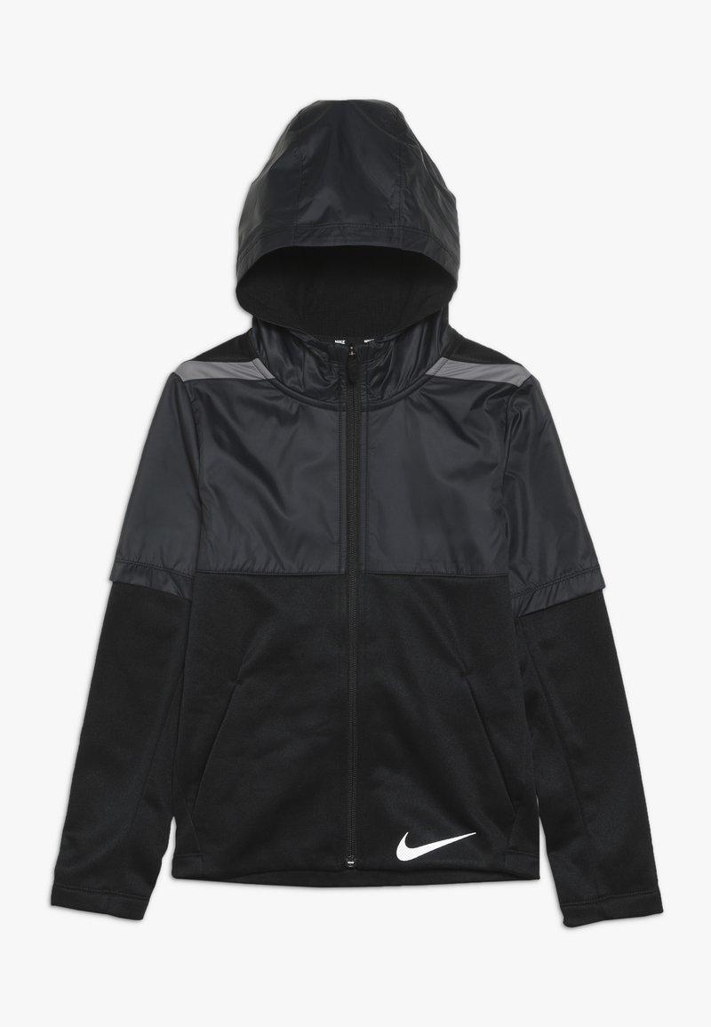 Nike Performance - THERMA WINTERIZED - Felpa aperta - black/gunsmoke