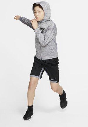 Zip-up hoodie - gunsmoke/black