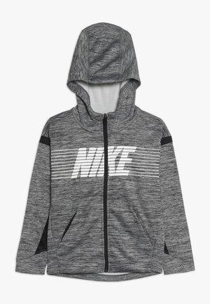 veste en sweat zippée - black/heather/white