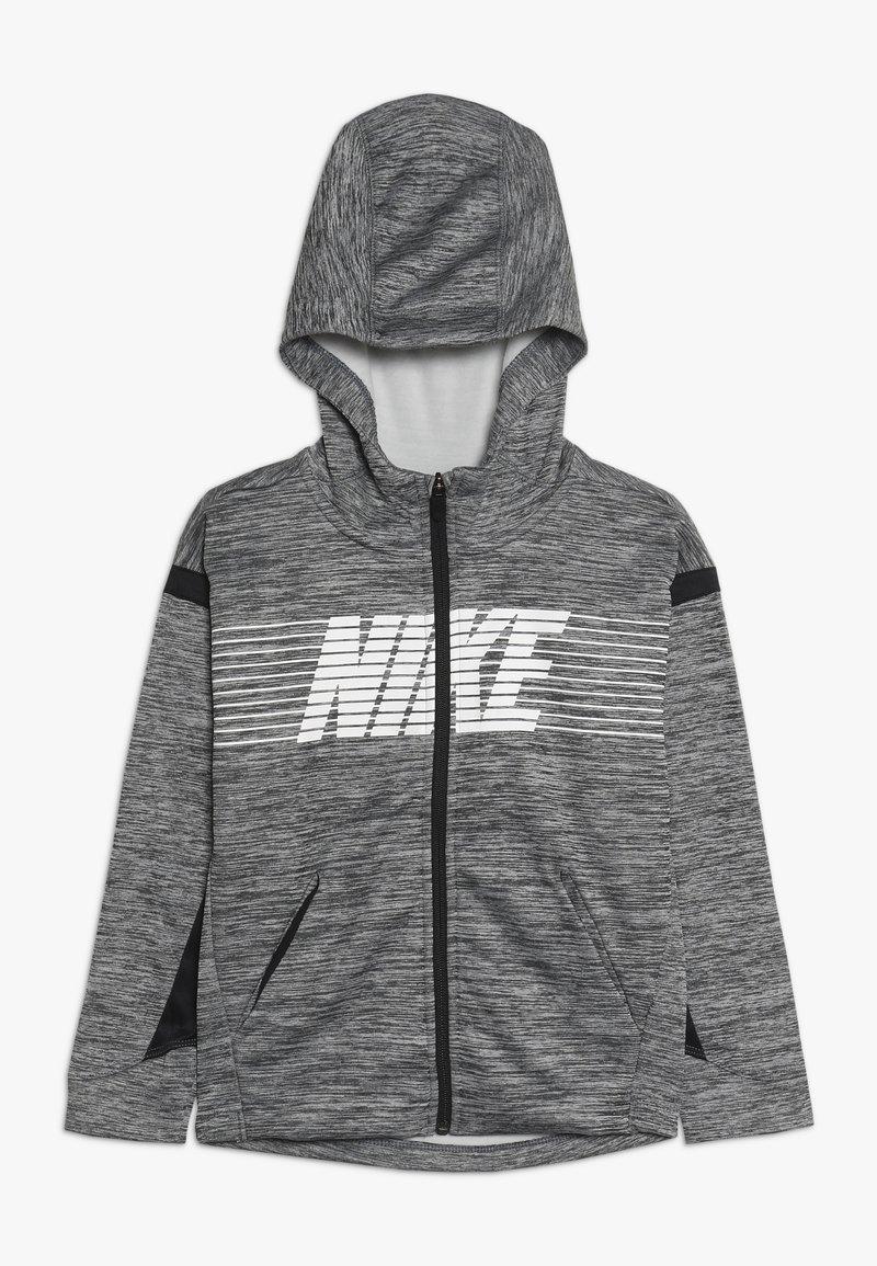 Nike Performance - Zip-up hoodie - black/heather/white