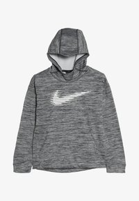 Nike Performance - THERMA HOODIE - Huppari - black/heather/white - 3