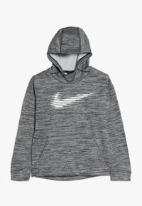 Nike Performance - THERMA HOODIE - Huppari - black/heather/white - 0