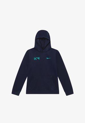 KYLIAN MBAPPE HOODIE - Långärmad tröja - obsidian/aurora green