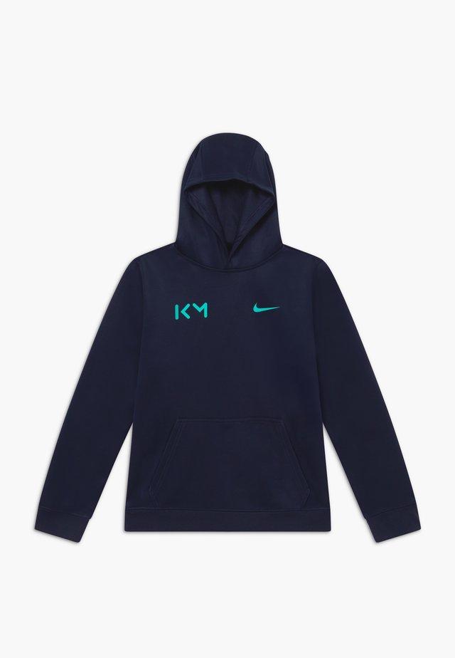 KYLIAN MBAPPE HOODIE - Langærmede T-shirts - obsidian/aurora green