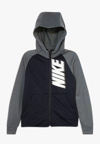 Nike Performance - DRY - Bluza rozpinana - black/iron grey/white - 0