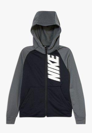 DRY - Mikina na zip - black/iron grey/white