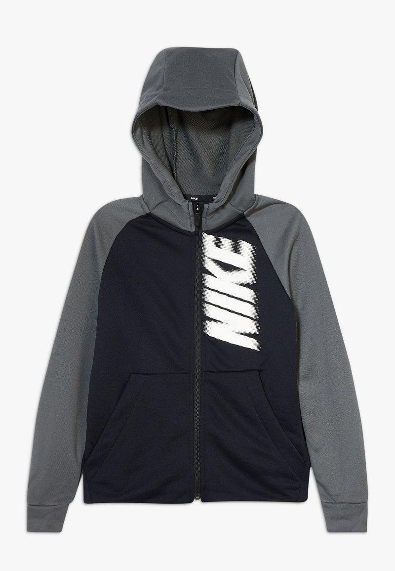 Nike Performance - DRY - Bluza rozpinana - black/iron grey/white