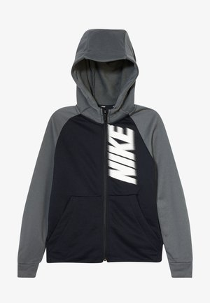 DRY - Zip-up hoodie - black/iron grey/white