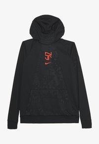 Nike Performance - NEYMAR DRY HOODIE - Sports shirt - black/bright crimson - 0