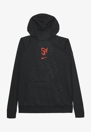 NEYMAR DRY HOODIE - Sports shirt - black/bright crimson