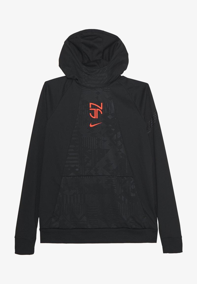 Nike Performance - NEYMAR DRY HOODIE - Sports shirt - black/bright crimson