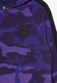 Nike Performance - NBALOS ANGELES LAKERS HOODIE COURTSIDE  - Mikina na zip - court purple - 2