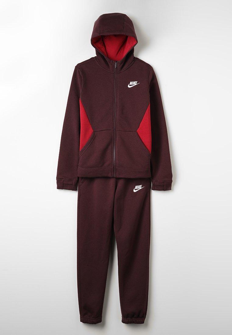 Nike Performance - SUIT CORE - Tracksuit - burgundy crush/red crush/white