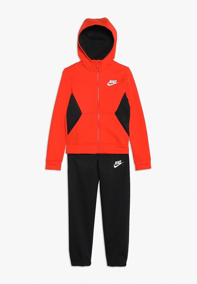 Nike Performance - SUIT CORE - Tracksuit - habanero red/black/white