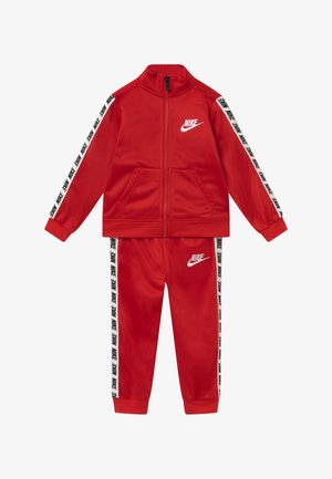 BLOCK TAPING TRICOT BABY SET - Verryttelypuku - university red