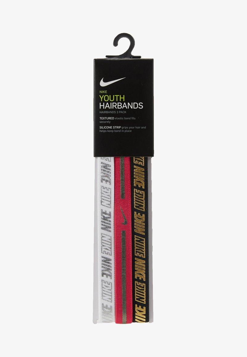 Nike Performance - GIRLS HAIRBAND 3 PACK - Accessoires - white/rush pink/black