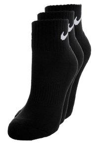Nike Performance - CUSHION QUARTER 3 PACK - Socquettes - black - 0