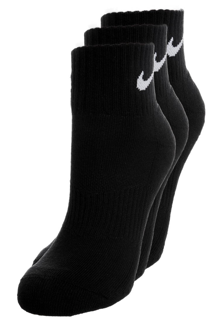 Nike Performance - CUSHION QUARTER 3 PACK - Socquettes - black