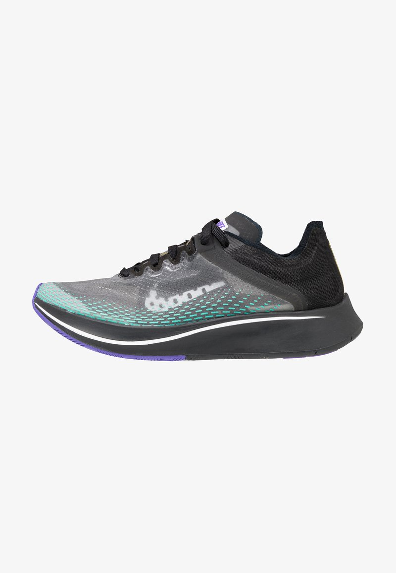 Nike Performance - ARTIST ZOOM FLY SP FAST - Neutral running shoes - black/white/hyper jade/hyper grape/amarillo