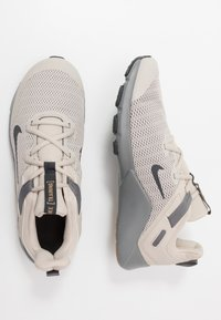 Nike Performance - LEGEND ESSENTIAL - Sports shoes - string/dark smoke grey/smoke grey/light brown - 1