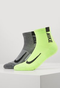 Nike Performance - ANKLE 2 PACK - Calcetines de deporte - multicoloured/neon green - 0
