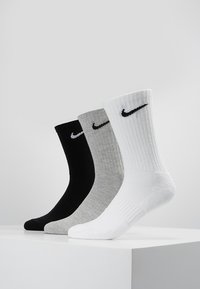 Nike Performance - EVERYDAY CUSH CREW 3 PACK - Urheilusukat - white black/dark grey heather black/black white - 0