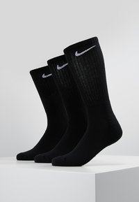 Nike Performance - EVERYDAY CUSH CREW 3 PACK - Calcetines de deporte - black/white - 0