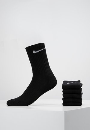 EVERYDAY CUSH CREW 6 PACK - Sports socks - black/white