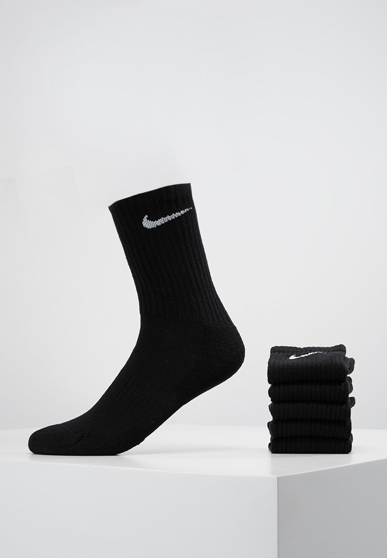 Nike Performance - EVERYDAY CUSH CREW 6 PACK - Urheilusukat - black/white