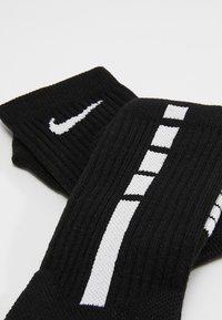 Nike Performance - ELITE CREW - Skarpety sportowe - black/white/white - 2