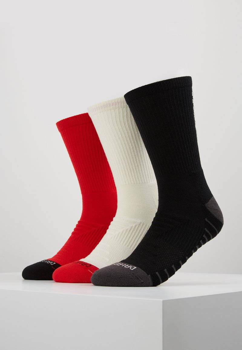Nike Performance - EVERY CUSH 3 PACK - Sports socks - black