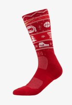 ELITE CREW CHRISTMAS - Calcetines de deporte - gym red/white