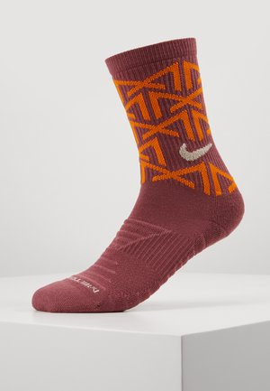 EVERYDAY METCON CUSH CREW - Calcetines de deporte - shadowberry/magma orange