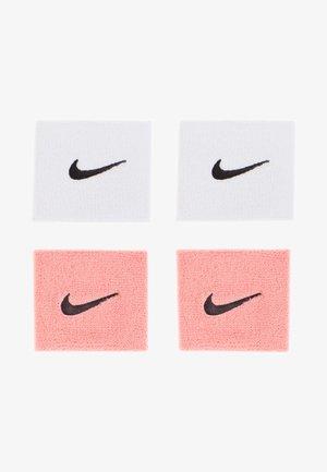 WRISTBANDS 4 PACK - Svettebånd - vivid pink/white black/white