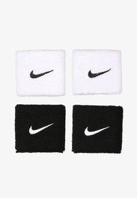 Nike Performance - WRISTBANDS 4 PACK - Sweatband - black/white - 0