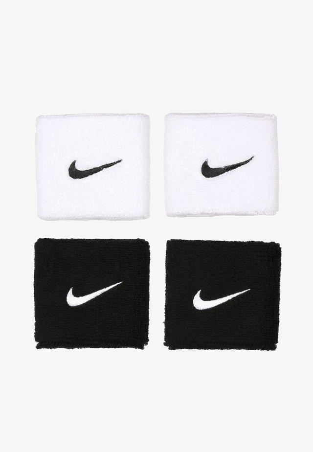 WRISTBANDS 4 PACK - Sweatband - black/white