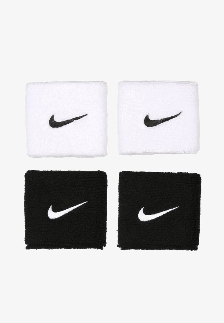 Nike Performance - WRISTBANDS 4 PACK - Opaska z froty - black/white