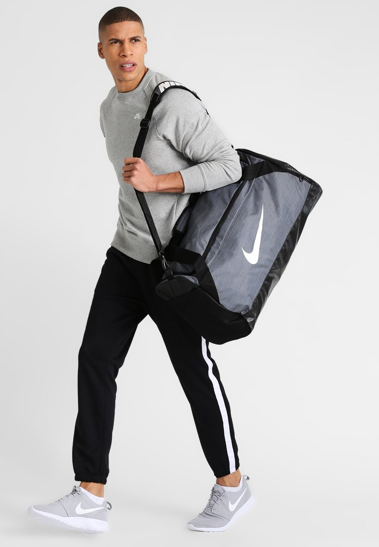 Nike Performance - BRASILIA - Torba sportowa - flint grey/black/white