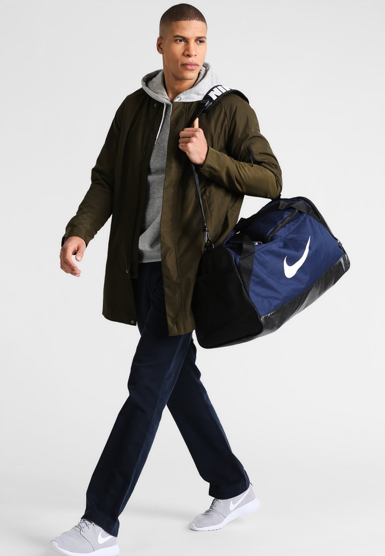 Nike Performance - BRASILIA - Sports bag - midnight navy/black/white