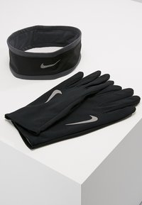 Nike Performance - RUN DRY HEADBAND AND GLOVE SET - Guantes - black/anthracite/silver - 0