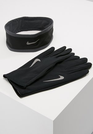RUN DRY HEADBAND AND GLOVE SET - Fingervantar - black/anthracite/silver
