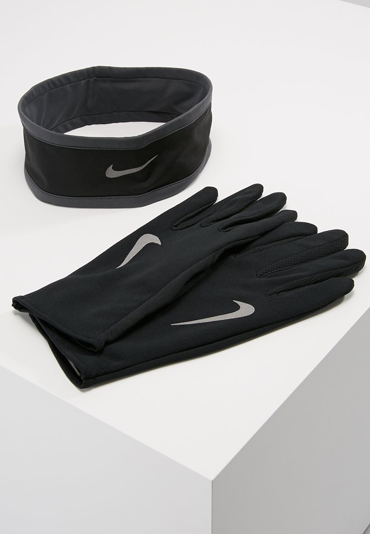 Nike Performance - RUN DRY HEADBAND AND GLOVE SET - Guantes - black/anthracite/silver