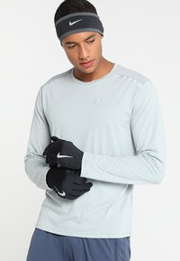 Nike Performance - RUN DRY HEADBAND AND GLOVE SET - Gloves - black/anthracite/silver - 1